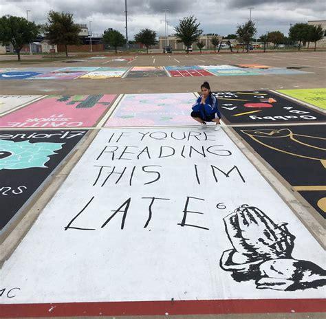 Parkplatz Gestalten Ideen by High School Seniors Paint Their Parking Spots And Their