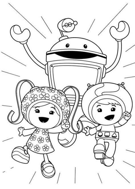 coloring page team umizoomi milli coloring pages