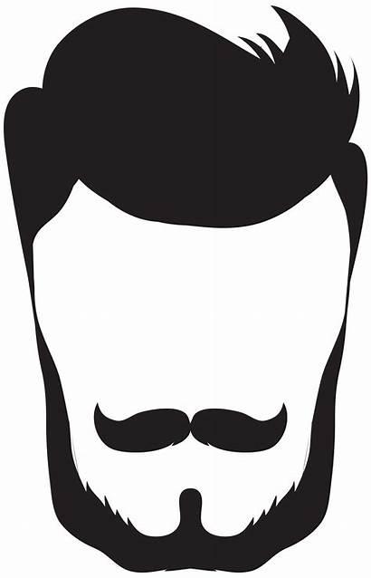 Beard Clipart Hair Clip Hipster Mens Silhouette