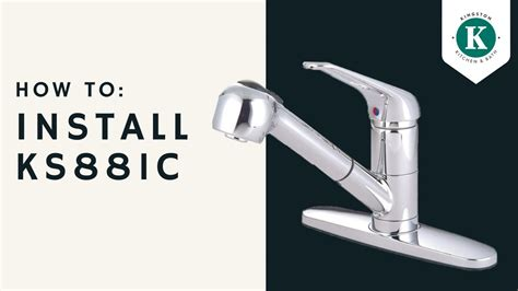 install  ksc kitchen faucet youtube