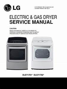 Lg Dley1701v Dley1701w Dryer Service Manual And Repair