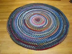 4395quot wool round braided rug country braid house for Braided rugs