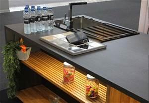 Plan De Travail Céramique : plan de travail cuisine c ramique et bois massif plan de ~ Dailycaller-alerts.com Idées de Décoration