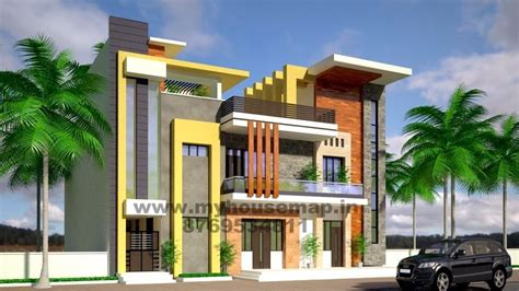 exterior front elevation design house map building design house designs house plans