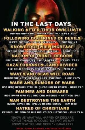 End Of Days Bible Quotes