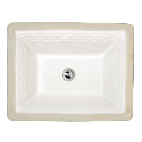 Undermount Bathroom Sinks Home Depot by American Standard Portsmouth Undermount Bathroom Sink In