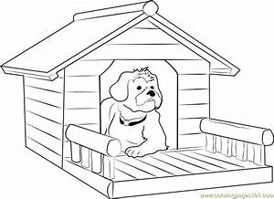 Dog House with Porch Coloring Page - Free Dog House ...