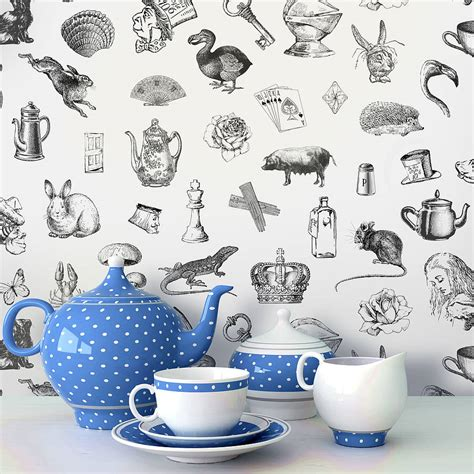 alice  wonderland  adhesive wallpaper  oakdene