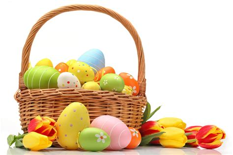 Easter Eggs In Basket Wallpapers Hd