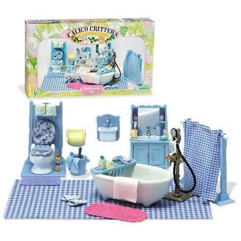 international playthings calico critters of cloverleaf corners quot bathroom set quot