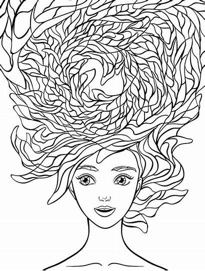 Coloring Pages Crazy Hair Adult Wacky Adults