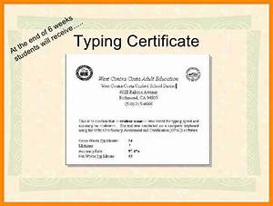 typing certificate template dtk templates With typing certificate template