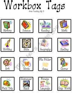 Homeschool  Workboxes On Pinterest  Visual Schedules