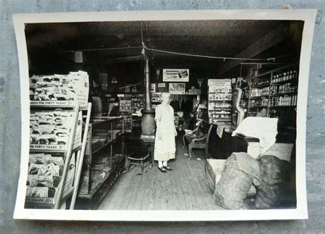 Detailed Old General Store Antique Photo-seed Rack, Signs