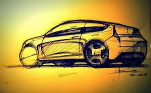 Car sketch tutorial by Luciano BoveThe 3/4 back view