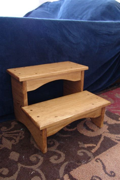 Bed Step Stools For Adults by Handcrafted Heavy Duty Step Stool Wooden Bedside