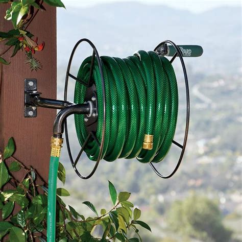 yard butler hose reel yard butler srm 90 wall mount mighty hose reel 75 1682