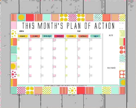 10+ Monthly Planner Template  Memo Formats