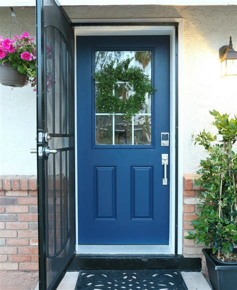 How To Paint A Door With Scotchblue  Classy Clutter