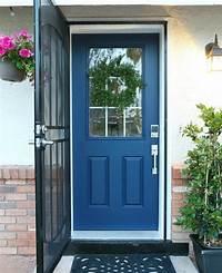 paint front door How to paint a door with ScotchBlue - Classy Clutter