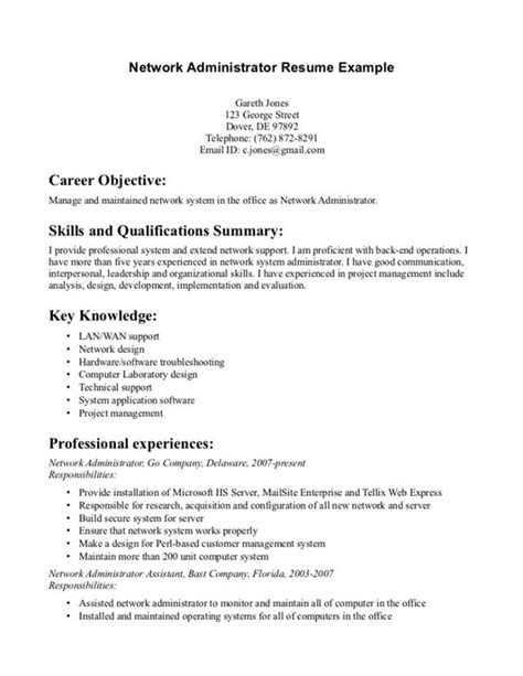 Administrator Resume Objective by The World S Catalog Of Ideas