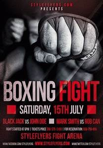 boxing fight psd flyer template 8850 styleflyers With boxing poster template free