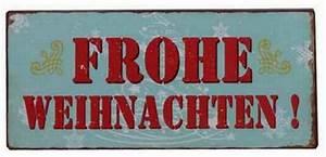 Blechschilder Sprüche Vintage : blechschild frohe weihnachten retro vintage deko schild ~ Michelbontemps.com Haus und Dekorationen