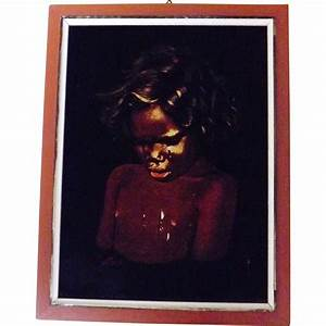 Black Velvet Australian Aboriginal Painting Circa 1960
