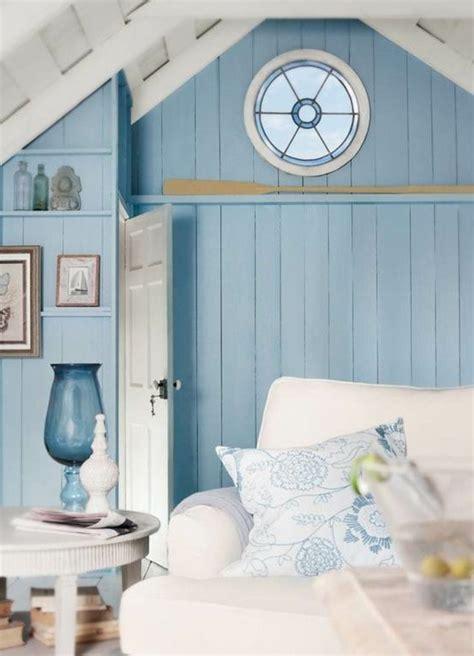 canapé jonc de mer deco salon bleu marine