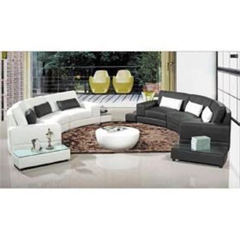canapé d angle bi couleur canapé d 39 angle arrondi cuir noir atlanta achat vente