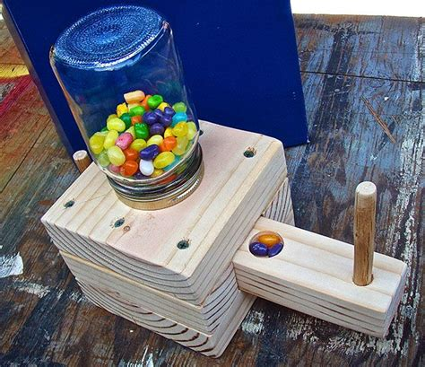 homemade candy dispenser wood projects  kids