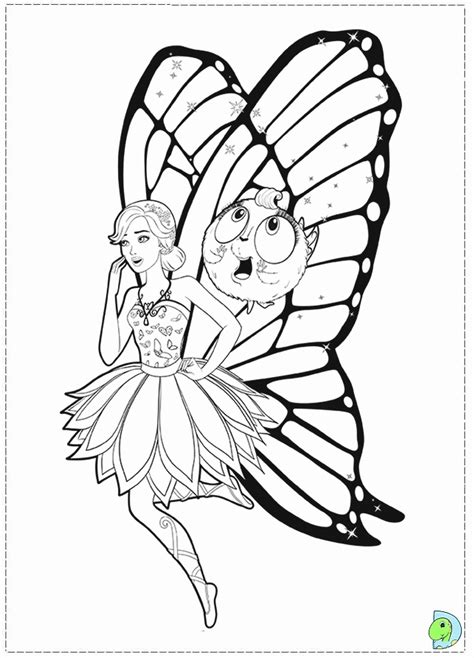 Kleurplaat Mariposa by Mariposa And The Princess Coloring Page