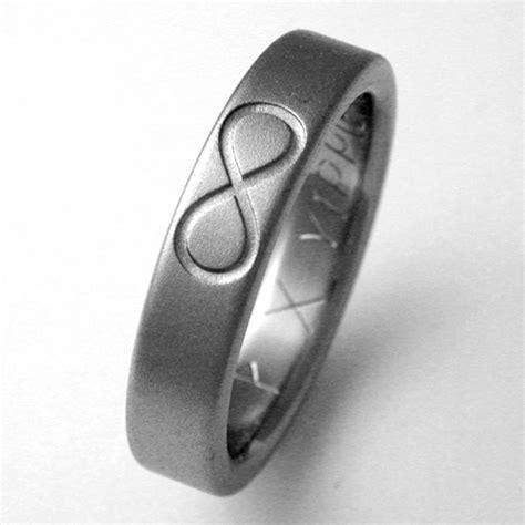 eliot titanium ring with infinity symbols titanium