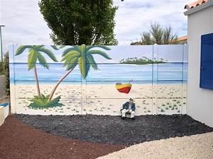cuisine fresques murales daccor peint sur faaade With trompe l oeil exterieur jardin 7 habiller les murs de son jardin