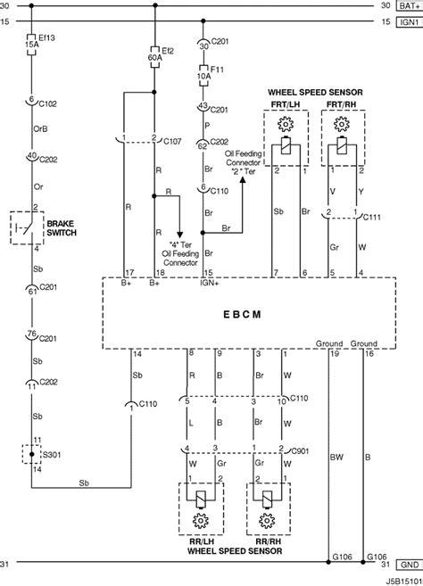 electrical wiring diagram 2005 nubira lacetti 27 abs antilock brake system