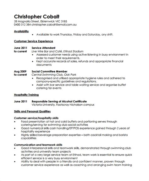 Work Resume Format by 10 Work Resume Templates Pdf Doc Free Premium