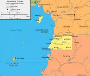 Equatorial Guinea Map and Satellite Image Equatorial Guinea