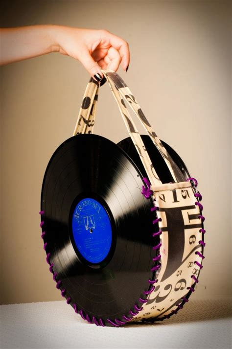 vinyl record purses chapeau girls