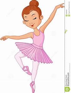 Cartoon Young Girl Ballet Dancer Stock Vector ...