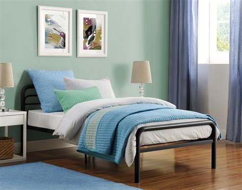 Metal Twin Bed With Round Tubing  Dhp Furniture