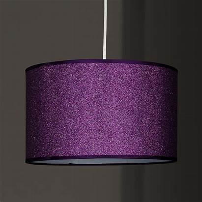 Shade Purple Glitter Pendant Ceiling Option Electric