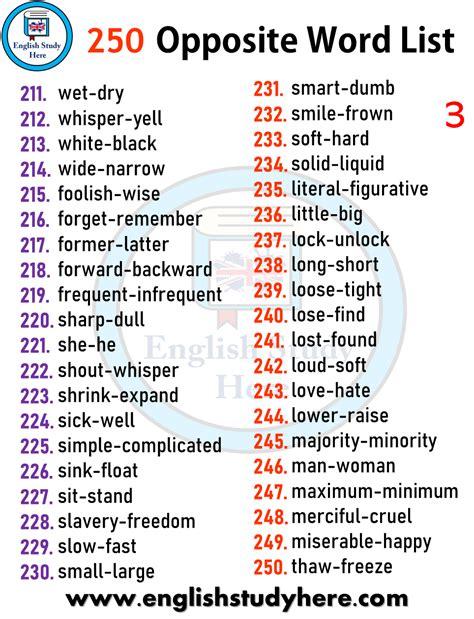word list english study
