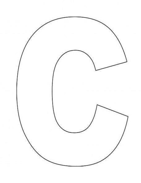 C Template Alphabet Letter C Template For Alphabet