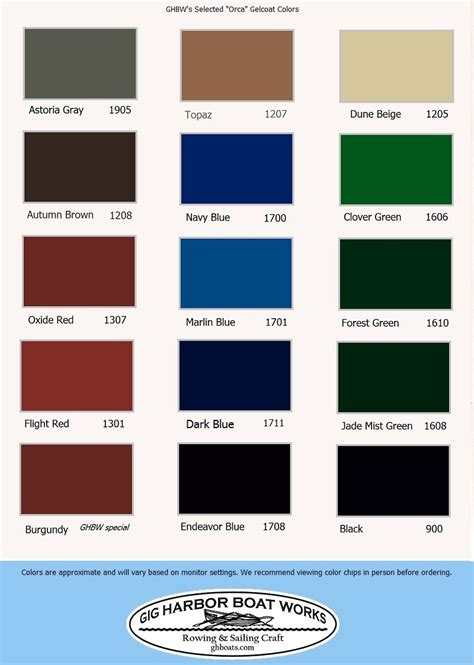 boat paint colors special colors gig harbor boat works