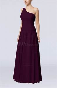 plum elegant sheath zipper chiffon floor length wedding With plum dress for wedding guest