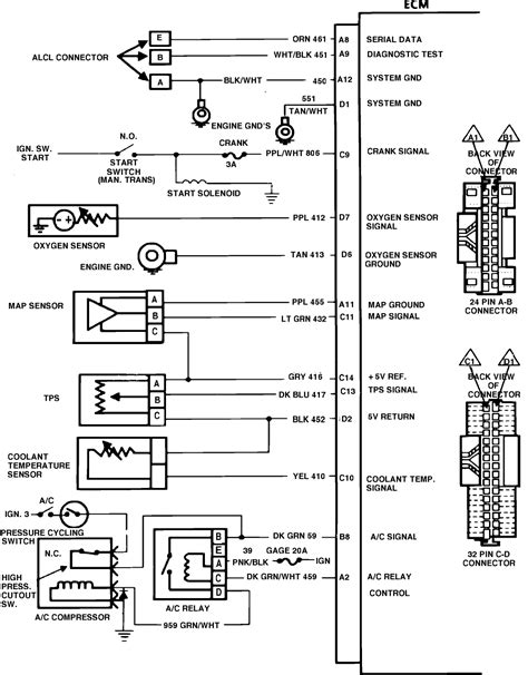 2003 Chevy Up Wiring Diagram by I Need The Wiring Harness Diagram For The Computer To