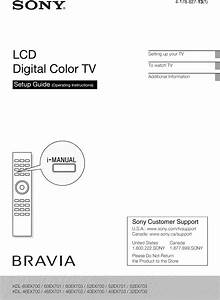 Sony Kdl 40ex700 User Manual Lcd Television Manuals And