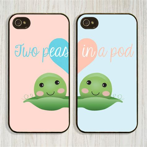 matching iphone cases two peas in a pod best friend matching