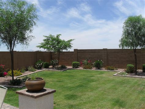 backyard photos stucco ing backyard wall gilbert houses contractors move phoenix area arizona az