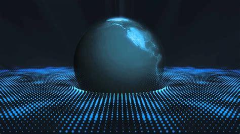 blue earth globe dot form video background hd